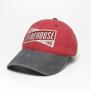 Hat Red Weathered Twill