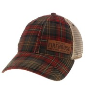 Red Plaid Trucker Hat