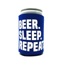 Beer Sleep Repeat Can Koozie