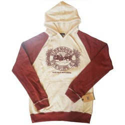 Red and white pullover reed hoodie