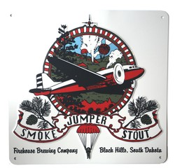Smoke Jumper Metal Sign